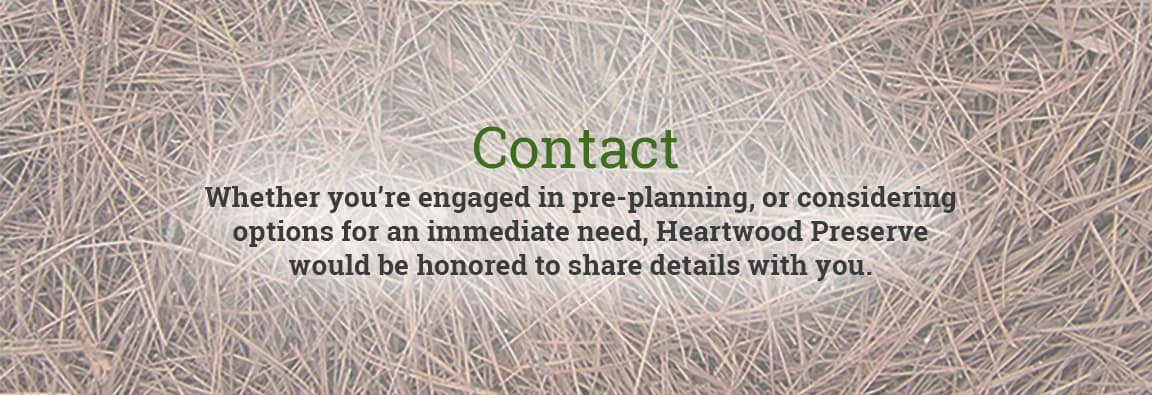 Contact Us For Information Green Natural Burial Preplanning - Conservation cemetery map us